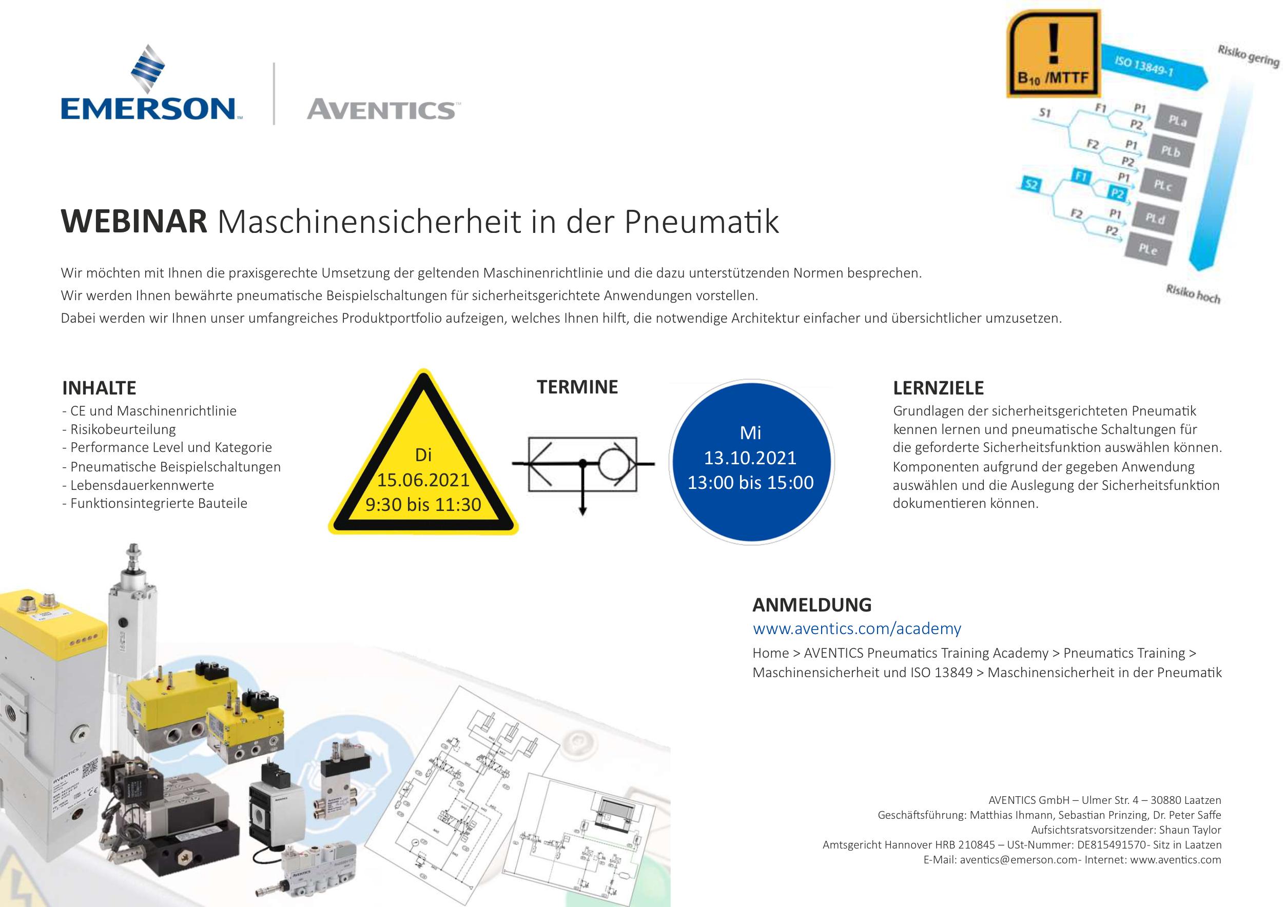 WEBINAR: Maschinensicherheit in der Pneumatik
